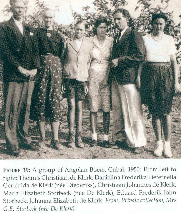 Angola Boere Familie 1950 Cubal, Angola