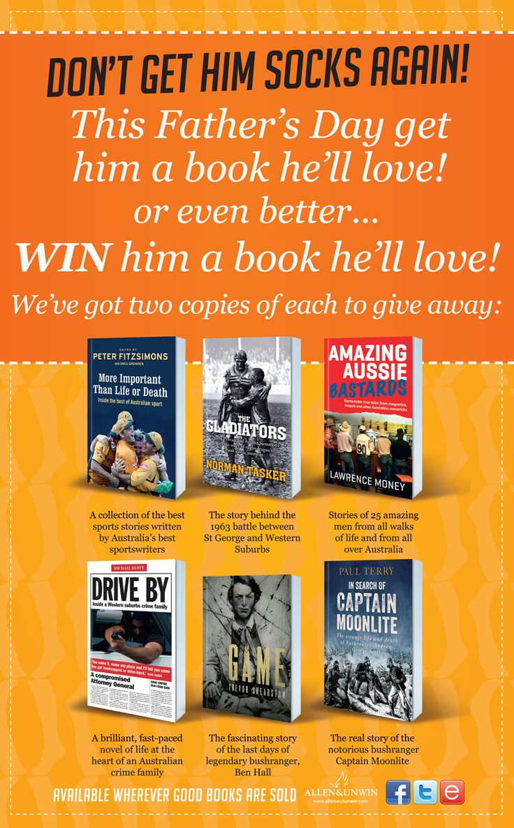 I'd like to win one of these great Father's Day titles from @Allen & Unwin