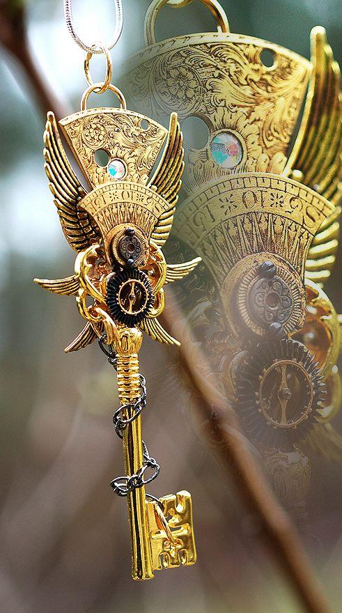 Epic Golden Emperor Key Necklace by *Drayok on deviantART