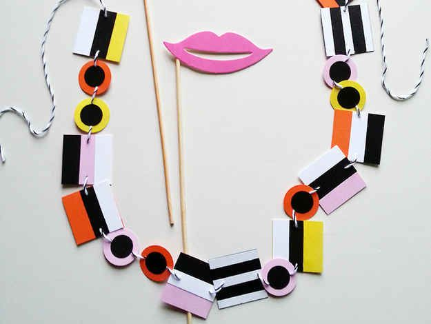 Paper Candy Necklace