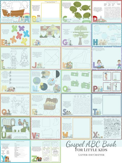 Latter-Day Chatter: INTERACTIVE Gospel ABC Quiet Book {for little kids}