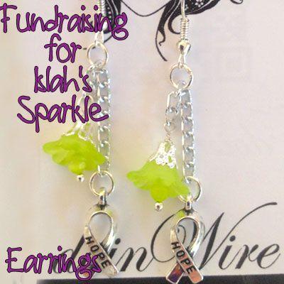 IslahsSparkle Earrings Flowers and Awareness Charms on Chain https://www.facebook.com/IslahsSparkle