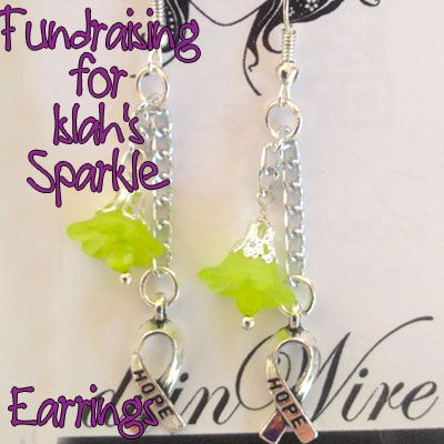 IslahsSparkle Earrings Flowers and Awareness Charms on Chain https://www.facebook.com/IslahsSparkle