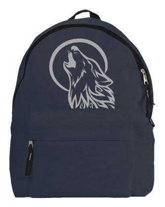 Hátizsák / RockPont: Farkas mintás hátizsák / online rendelés