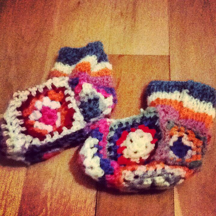 Socks of granny squares