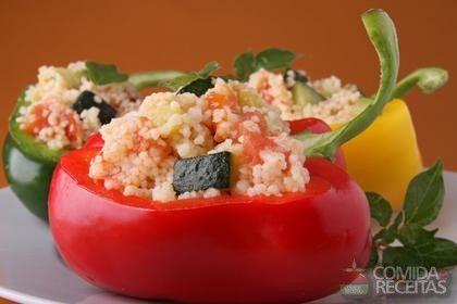 Receita de Pimentões recheados com arroz em receitas de microondas, veja essa e outras receitas aqui!