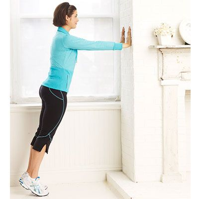Work chest, shoulders, triceps and core with this Wall Push-Up exercise