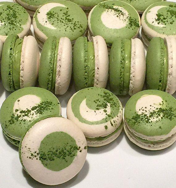 Macaron de thé vert japonais matcha (8 pièces)