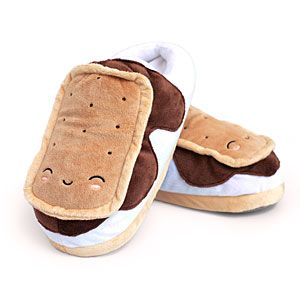 ThinkGeek :: S'mores USB Heated Plush Slippers