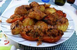 le patate e i pomodori al gratin