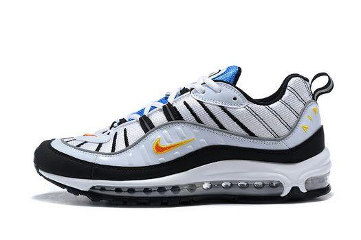 pretty nice 61cb3 1a537 2018 Real Nike Air Max 98 640744 101 White Team Orange Black ...