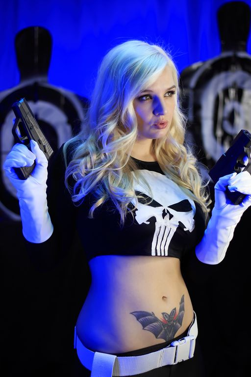 The Punisher by villainlily - More at https://pinterest.com/supergirlsart #cosplay #girl