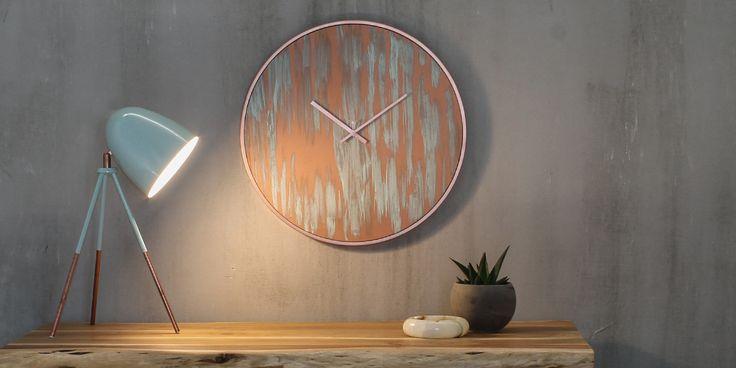 Wall clock '' Rust Copper''