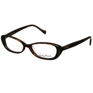 @Overstock - Subtle cat-eye lenses and a bold tortoise shell plastic frame creates a vintage look in this eyeglasses from Lucky Brand. These frames are finished with silvertone logo accents at the temple and an adjustable nose bridge.http://www.overstock.com/Clothing-Shoes/Lucky-Brand-Maude-Womens-Tortoise-Optical-Eyeglasses/5996430/product.html?CID=214117 $38.04