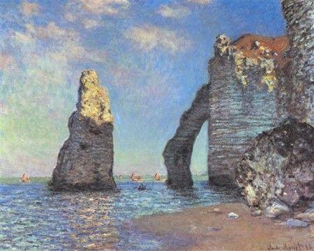 Claude Monet - Les falaises d'Etretat  1885