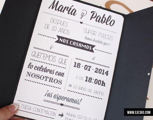 Invitaciones de boda - Eje 360