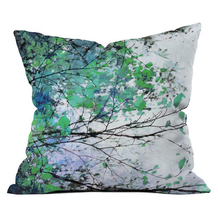 DENY Designs Marieke Boehmer Autumn 5 Blue Throw Pillow - 59293-OTHRP16