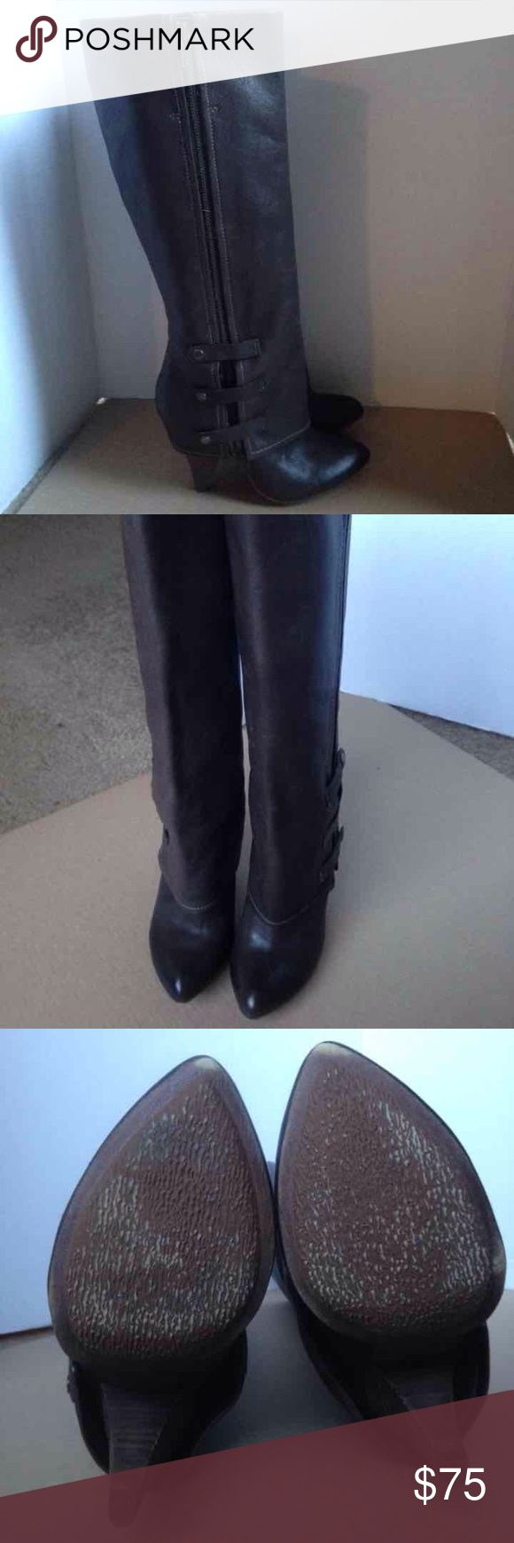 Miss sixty Leather Boots size 37M Miss sixty Leather Boots size 37M in good condition Miss Sixty Shoes