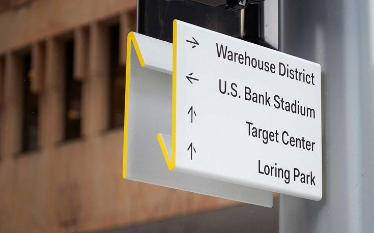 Nicollet by Pentagram, United States. #sign #design #wayfinding