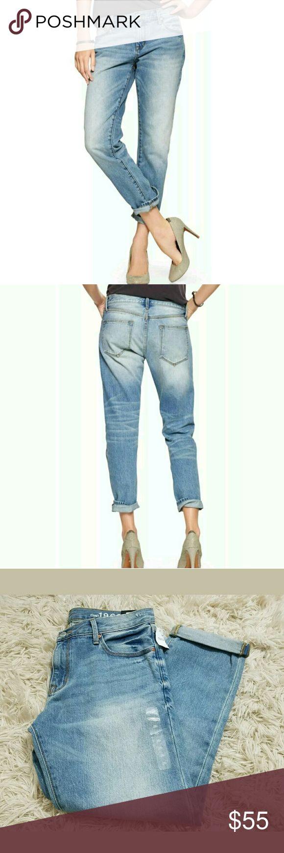 GAP Sexy Boyfriend Low Rise Light Blue Jeans GAP Sexy Boyfriend Low Rise Light Blue Jeans Size 28 $69.95  New jeans. 35 inch waist. 9.5 inch rise. 40 inch hips. 25.5 inch inseam with cuff.     LB GAP Jeans Boyfriend