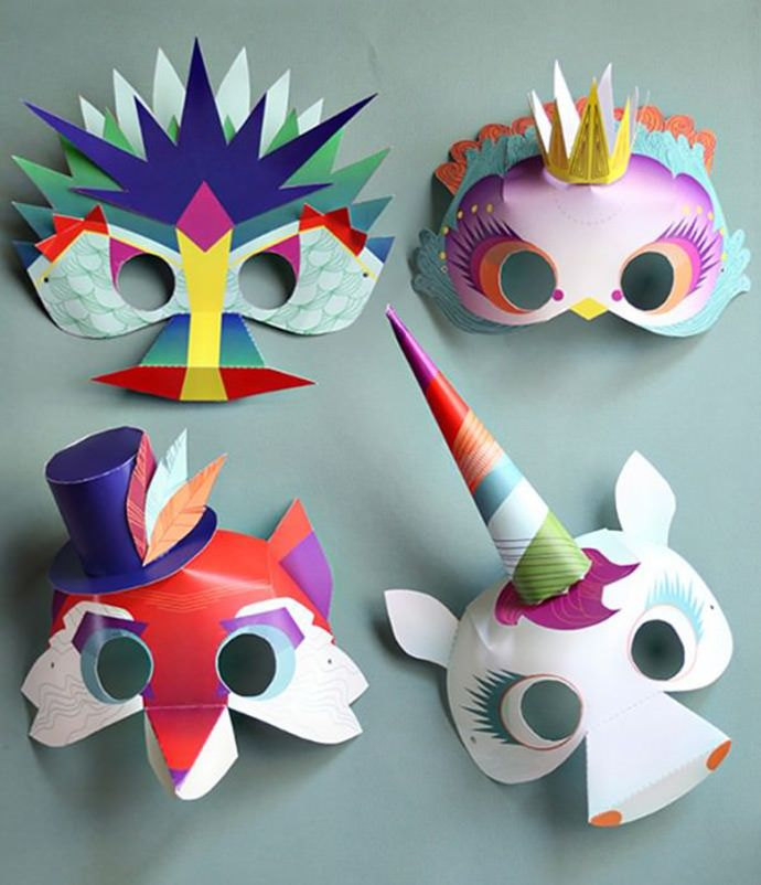 Máscaras de personajes fantasticos. Crafts, DIY, Kids, Fun