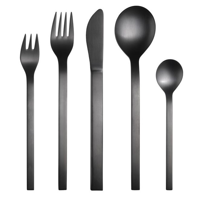 Mono Black Edition Flatware, Remodelista