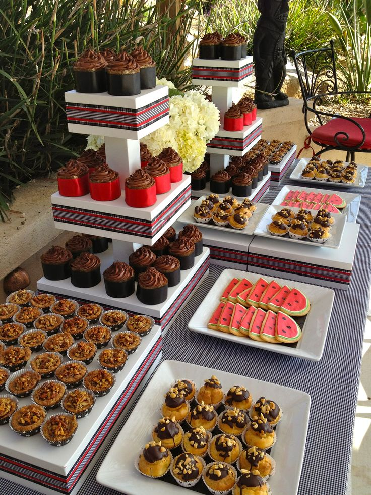 Dessert Table At Backyard Wedding Reception