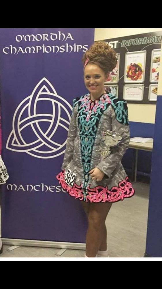 Brilliant Alana Mallon Irish Dance Dress Solo Costume For Sale