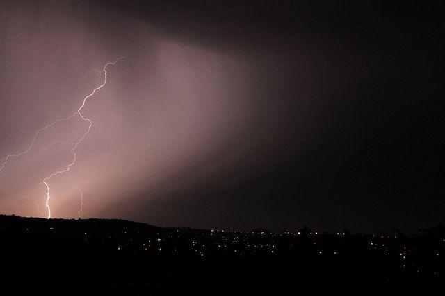 Lightning during a Johannesburg storm