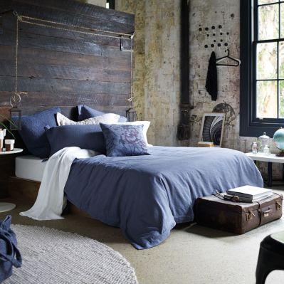 Indigo Bedroom Rustic Industrial Bedroom Decor Purple Indigo