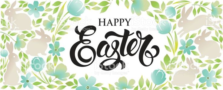 Happy Easter greeting banner royalty-free stock vector art