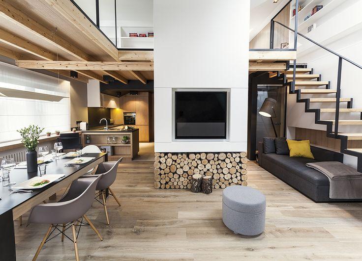 Apartament w Zakopanem - projekt Bartek Włodarczyk - pokój dzienny