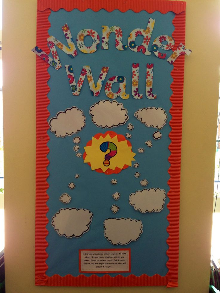 My 'Wonder Wall!' Children put any questions or wonders on ...