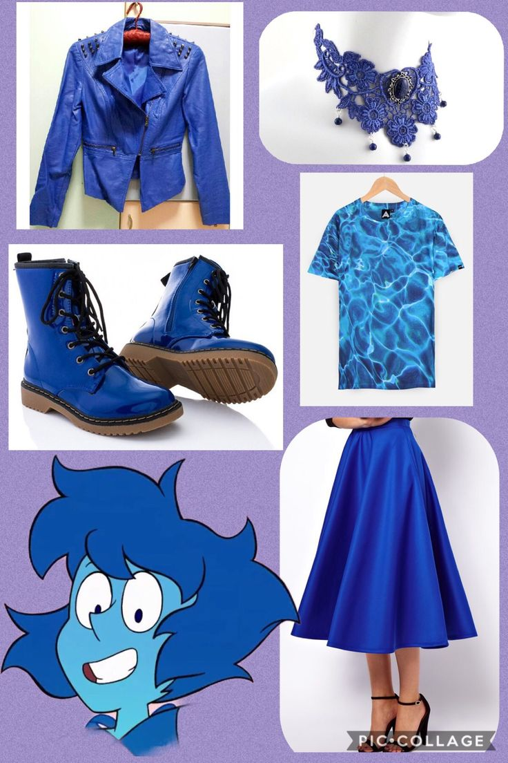 I don't own Steven Universe or any of the companies that made these clothes. I made this on pic collage, an outfit inspired by Lapis Lazuli from Steven Universe, closet cosplay, punk lapis, human lapis,