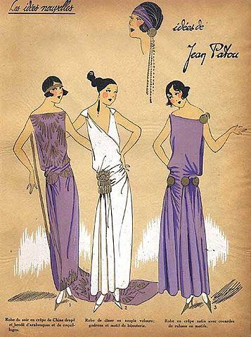 1923 Jean Patou ''Les Idees Nouvelles de la Mode'' Fashion Art Deco Pochoir ''Tres Parisien''