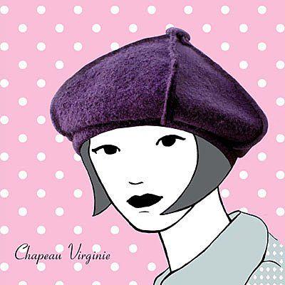 2- Chapeau Virginie en laine bouillie