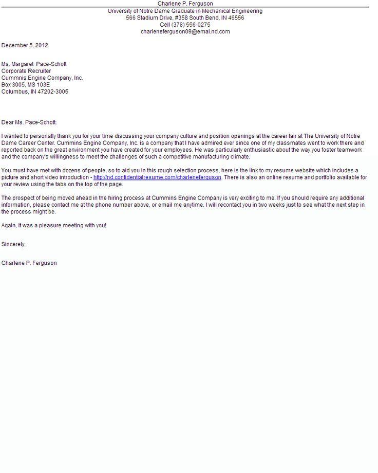 job fair cover letter samples