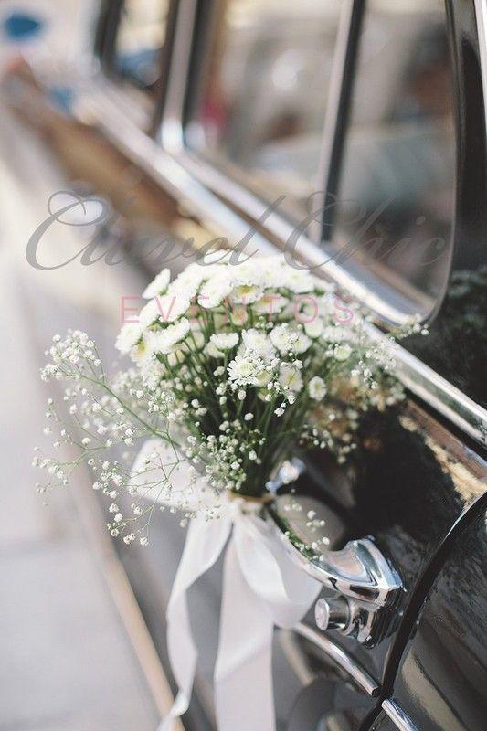 Décoration voiture cortège des mariés