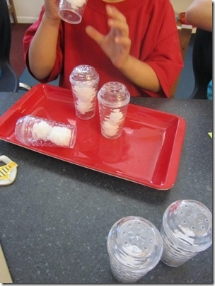 Five senses. Smelling bottles using salt and pepper shakers with cotton balls inside!