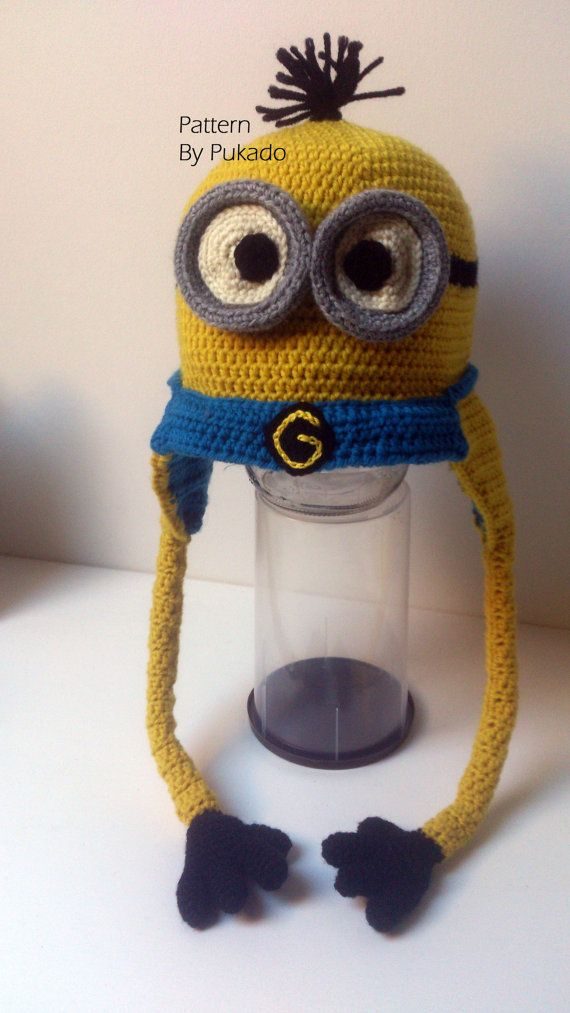 Crochet Pattern - Kevin the Minion Hat - 9 sizes - Halloween costume idea- by Pukado & 166 best minion stuff images on Pinterest | Crochet patterns Caps ...