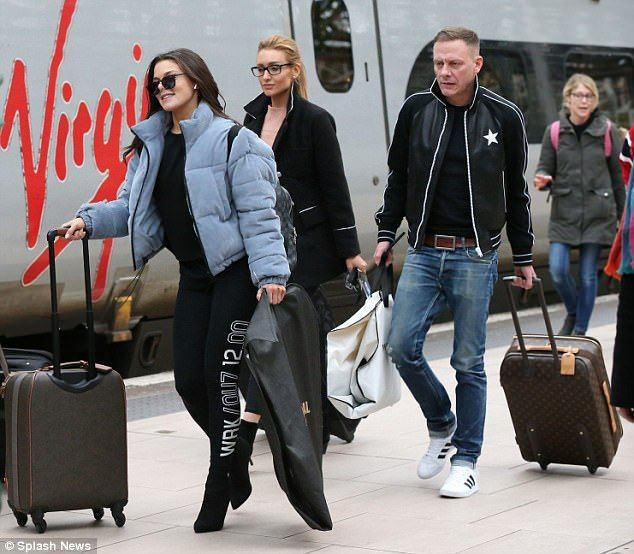 Heading home: Coronation Street actors (from left) Faye Brookes, Catherine Tyldesley and A...