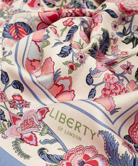 Liberty London Liberty London Cream Tree of Life Silk Scarf