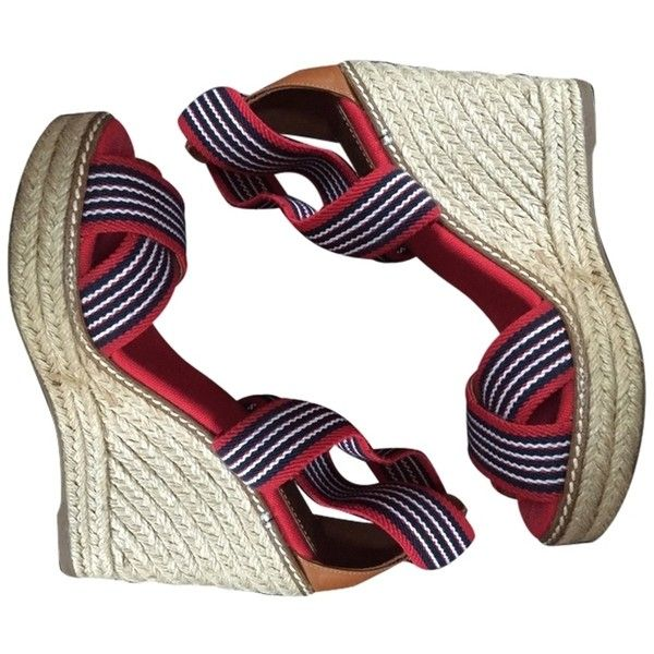 556457260682c Pre-owned Tory Burch Espadrille Red