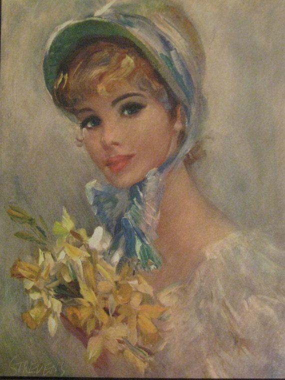 Strevens - Framed Lady Lithographs