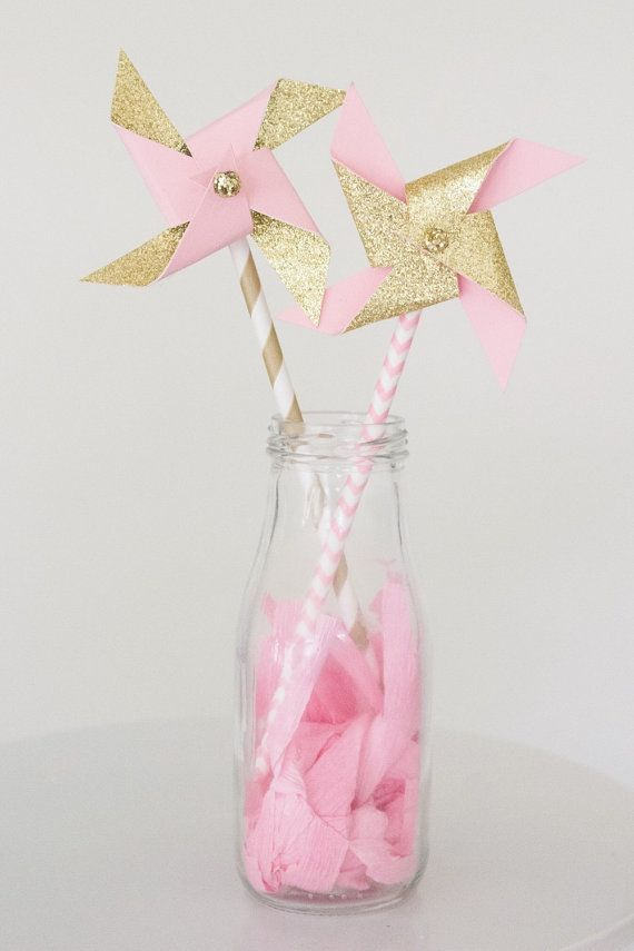 Pink and gold birthday pink and gold first by pompomsandpinwheels