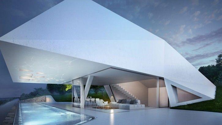 Villa F: Prism Shaped Cutting Edge Design on Rhodes Island