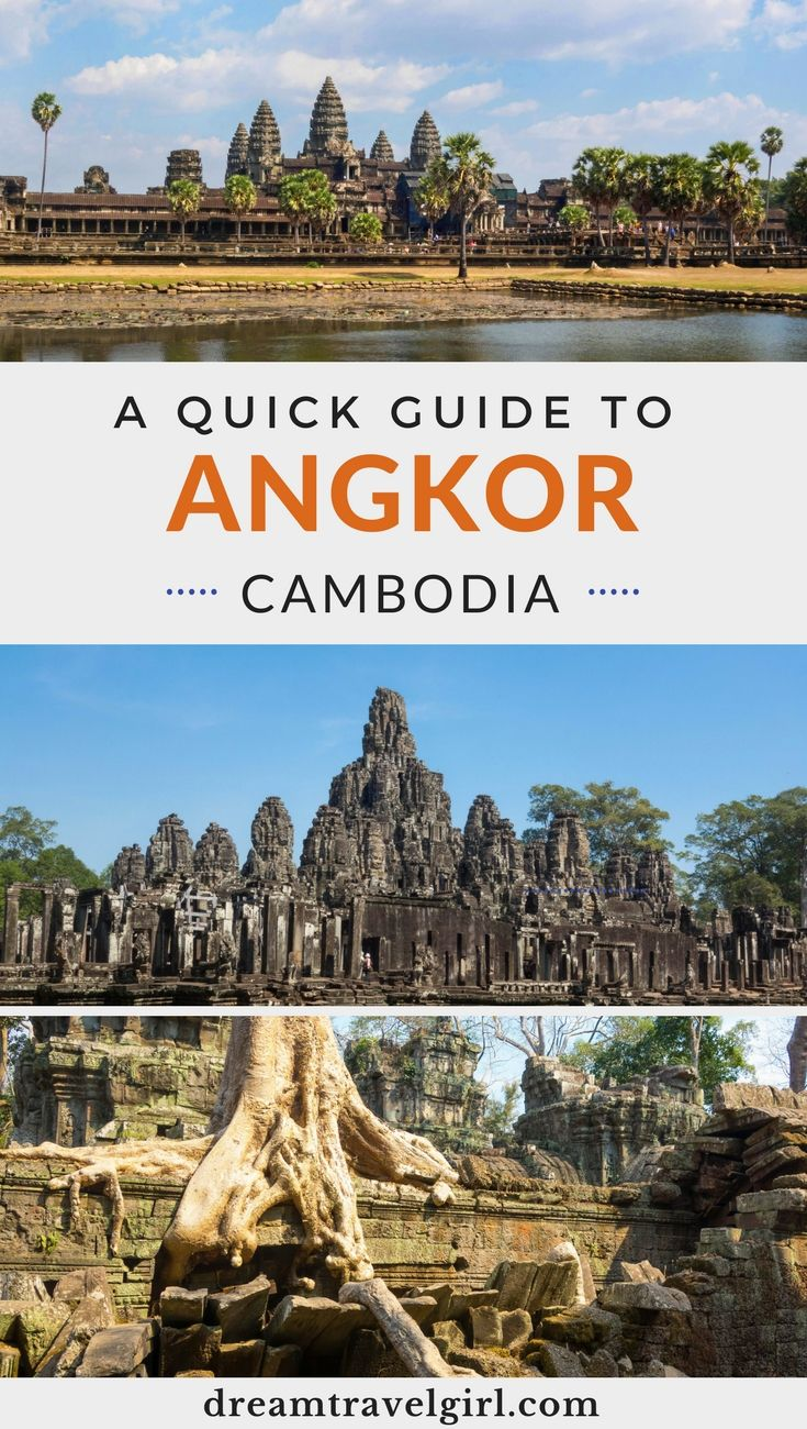 The Angkor temples in Cambodia are a must see! Find here everything you need to plan your visit to the Angkor Temples: most important Angkor Temples ruins, transport, tree roots. Click to read the quick Angkor travel guide. #angkor #angkorwat #cambodia #travel #southeastasia
