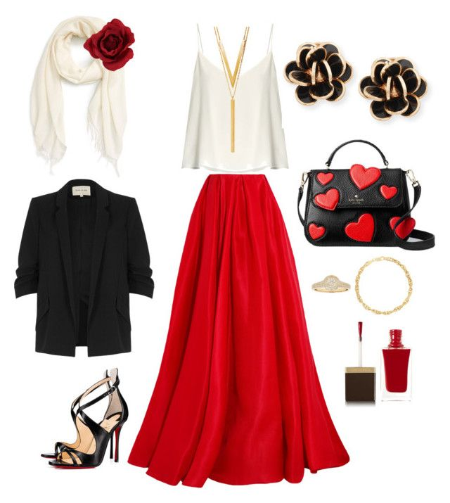 """""""♡ Saturday night ♡"""" by babsi666 on Polyvore featuring Reem Acra, Raey, Christian Louboutin, BERRICLE, River Island, Kate Spade, Nordstrom, Chantecler and Tom Ford"""
