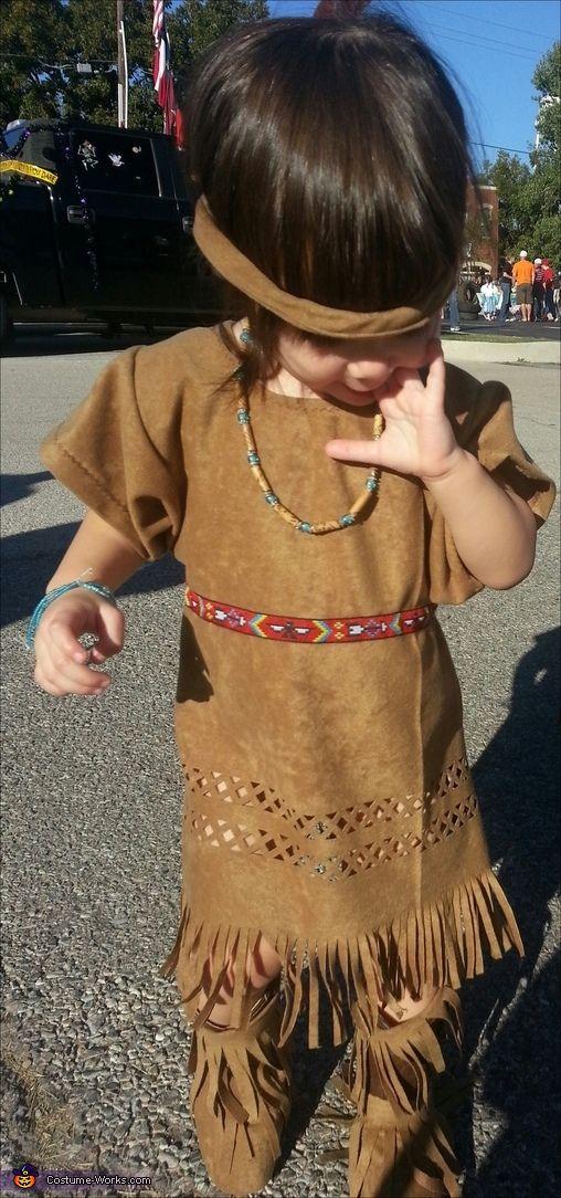 Pocahontas - Halloween Costume Contest via @Merry Falk Works