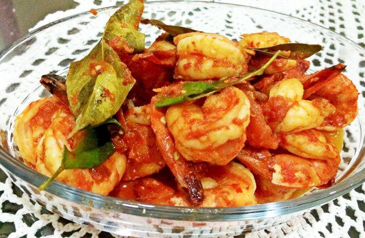 Udang Balado (spicy chili prawn)  #homemade #limut